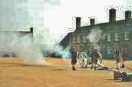 1790 cannon being fired