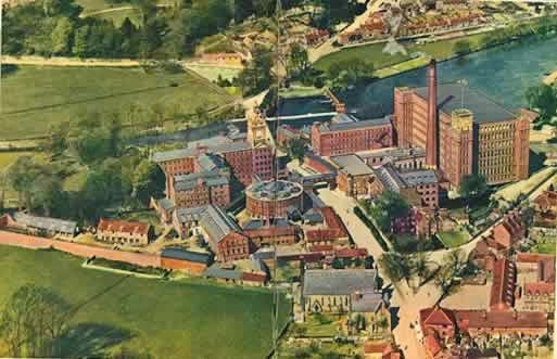 View of the Strutt mill complex at Belper, Derbyshire, UK
