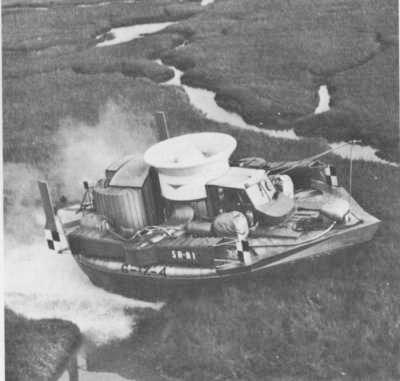 SRN1 hovercraft over marshes